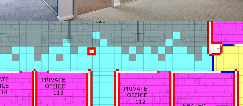 Office space with carpet tile flooring 3